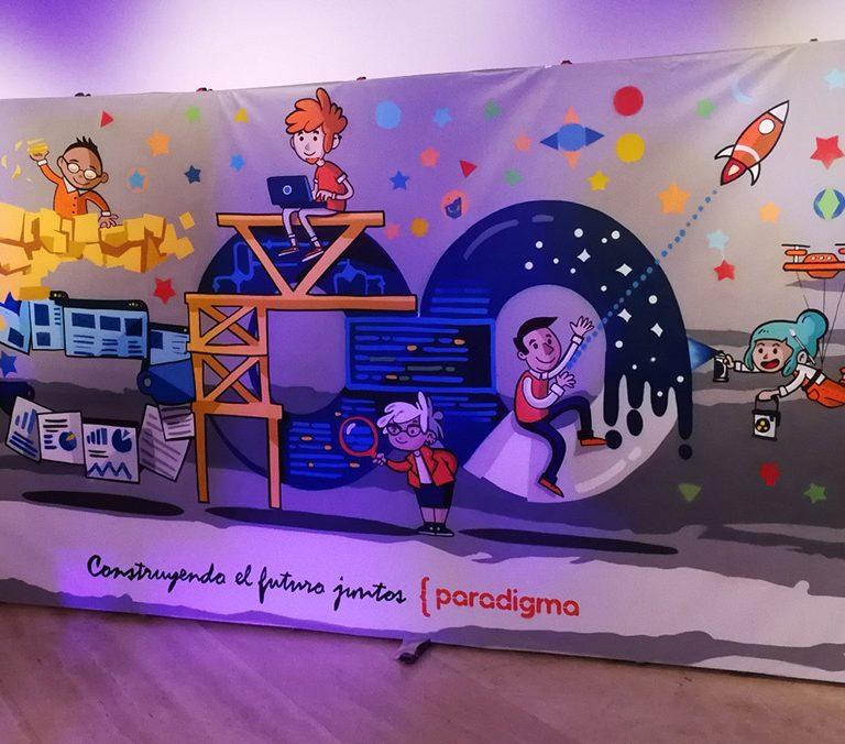 Graffiti en directo en evento de Paradigma Digital