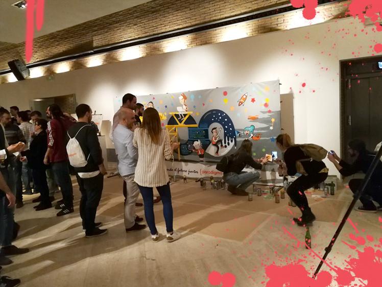 graffiti en eventos