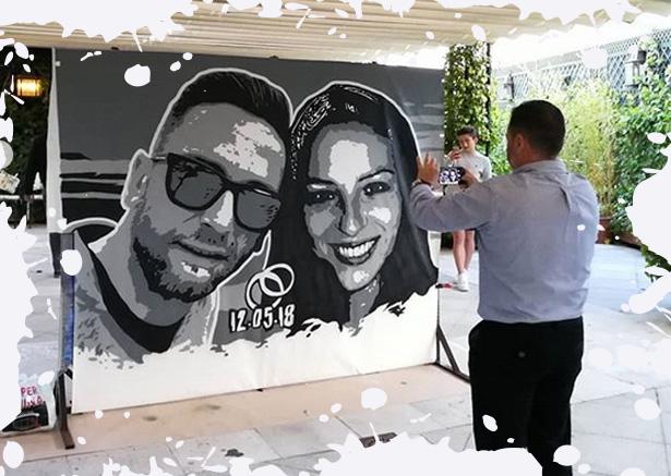 Eventos personalizados con graffiti