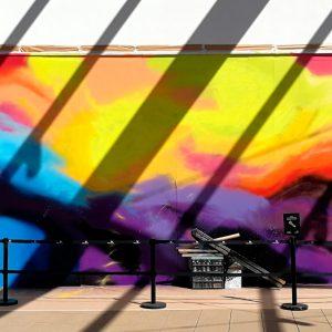 Fondo del graffiti del evento terminado.